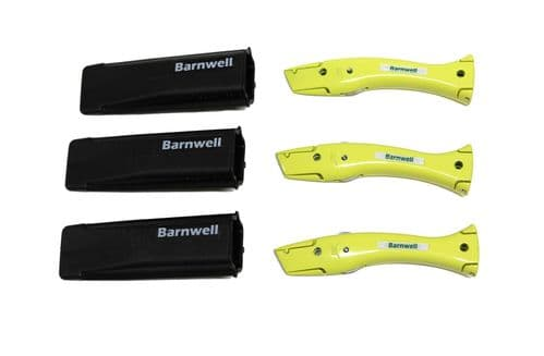 Barnwell Pack of 3 Dolphin Knives and Holster - Yellow
